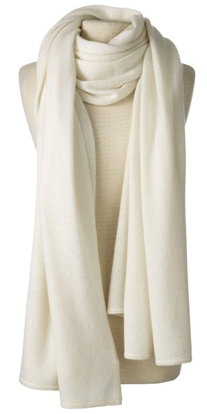 Cashmere Over-Sized Comfort Wrap in Ivory