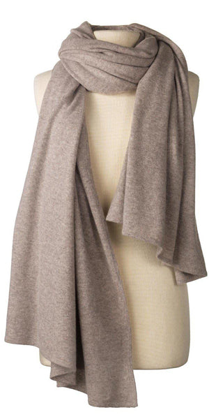Cashmere Over-Sized Travel Wrap in Toast