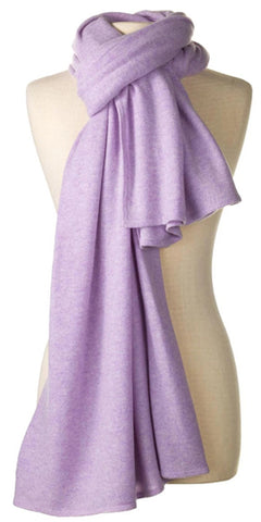 Cashmere Over-Sized Travel Wrap in Lilac
