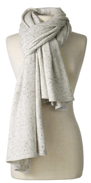 Cashmere Over-Sized Comfort Wrap in Salt & Pepper