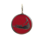 Small Enamel Nantucket Island Charm in Red