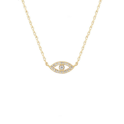 Third Eye Necklace in Gold