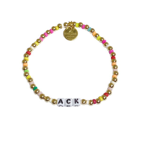 Little Words Project ACK Gold Multi Bead Bracelet