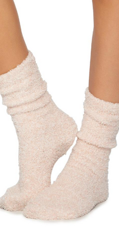 Barefoot Dreams Heathered Socks in Rose