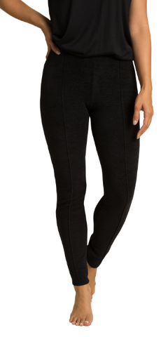 Cozy Chic Seamed Legging in Black