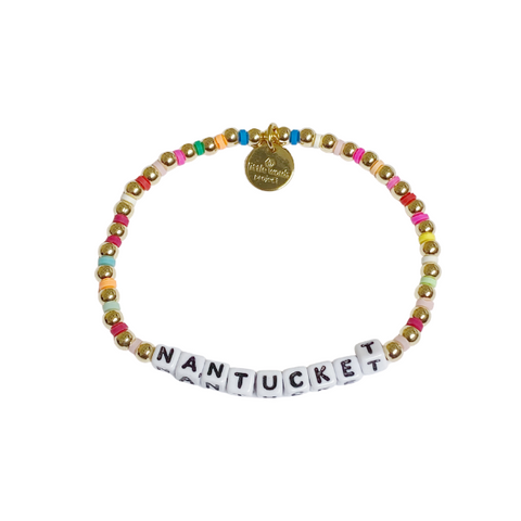 Little Words Project Nantucket Gold Multi Bead Bracelet