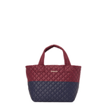 MZ Wallace Small Metro Deluxe Tote in Maroon/Dawn Navy
