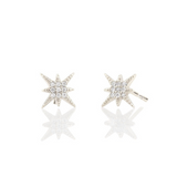 Starburst Pave Studs in Silver