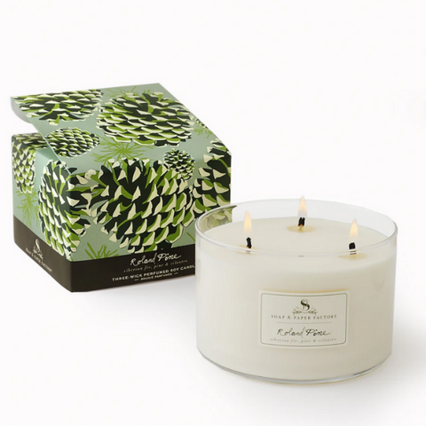Roland Pine Triple-Wick Soy Candle