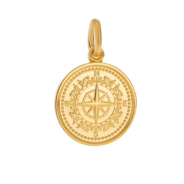 Small Gold Colby Davis Compass Charm