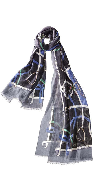 Verona Cashmere Scarf in Black