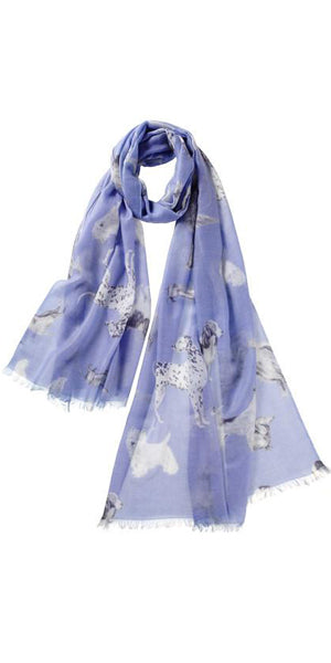 Amici Featherweight Cashmere Scarf in Sky