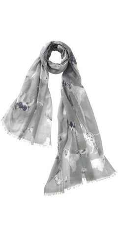 Amici Featherweight Cashmere Scarf in Smoke