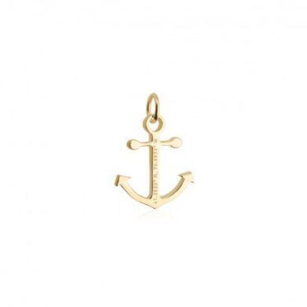 Nantucket Anchor Coordinates Bracelet Charm in Gold Vermeil