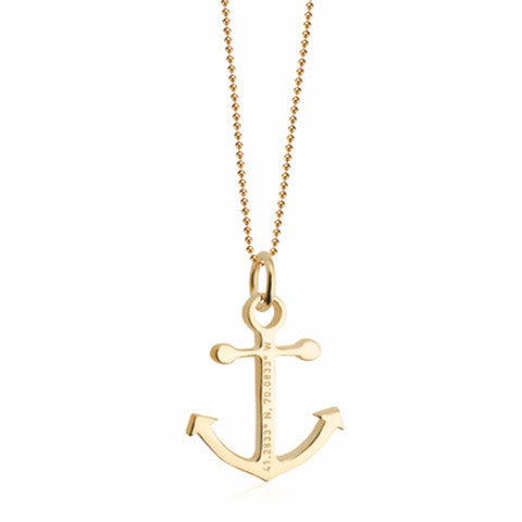 Nantucket Anchor Coordinates Charm in Gold Vermeil by Jet Set Candy