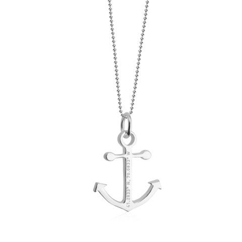 Nantucket Anchor Coordinates Charm in Sterling Silver by Jet Set Candy