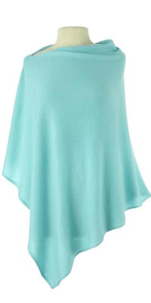 Cashmere Cape in Aquamarine