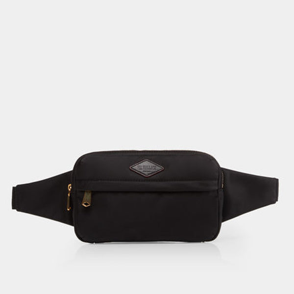 MZ Wallace Soho Belt Bag in Black Bedford