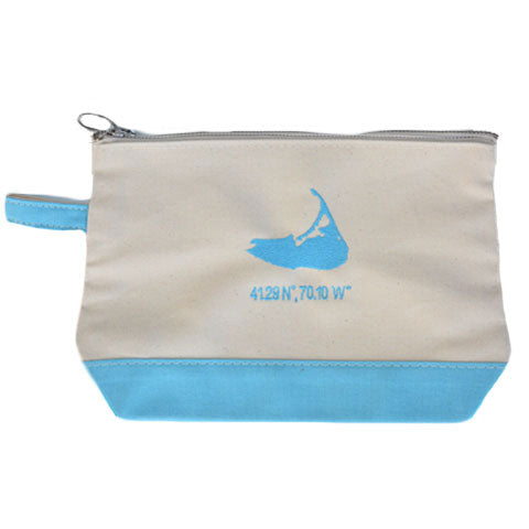 Island Make Up Bag in Baby Blue