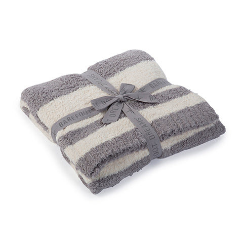 Barefoot Dreams Baja Blanket in Dove Grey/Cream