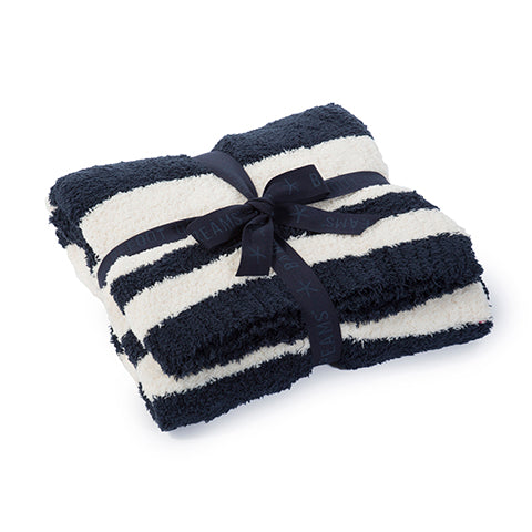 Barefoot Dreams Baja Blanket in Indigo/Cream