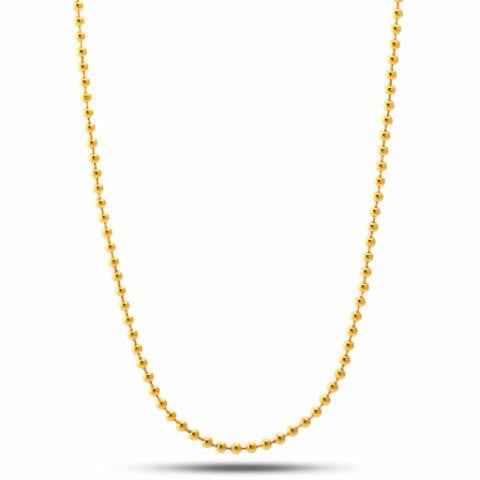1.5MM Gold Plated Ball Chain