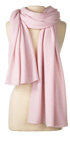 Cashmere Over-Sized Travel Wrap in Ballet