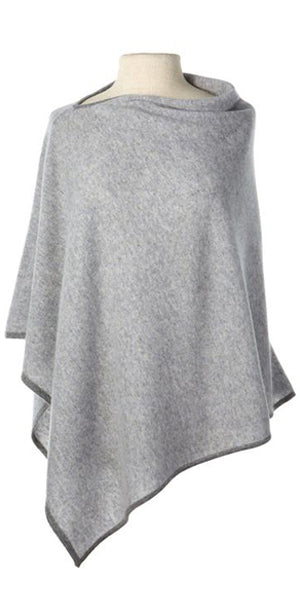 Cashmere Cape in Birch Tipped with Grey