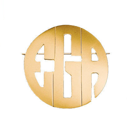 Block Monogram Pin Pendant by Jane Basch