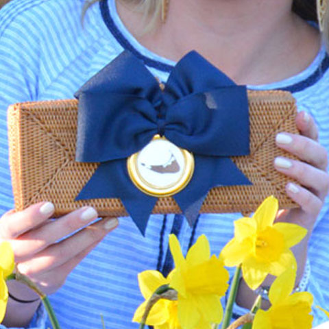 Nantucket Straw Clutch
