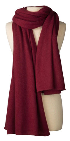 Cashmere Over-Sized Travel Wrap in Burgundy