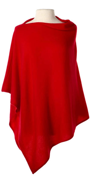 Cashmere Cape in Cardinal