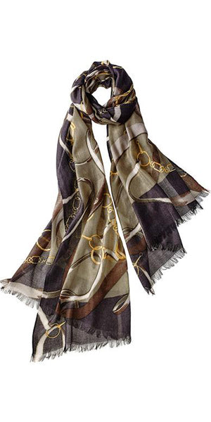 Cavello Featherweight Cashmere Scarf in Olive Heather