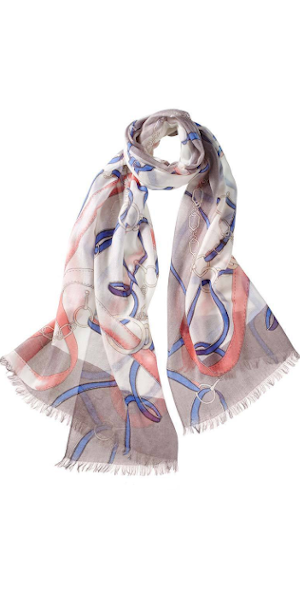 Cavello Featherweight Cashmere Scarf in Peach