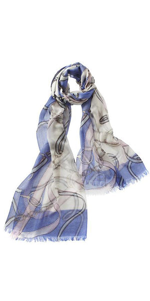 Cavello Featherweight Cashmere Scarf in Periwinkle