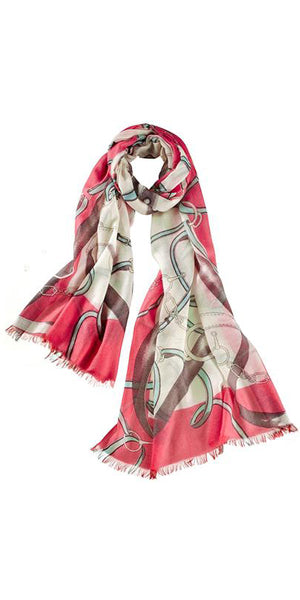Cavello Featherweight Cashmere Scarf in Strawberry