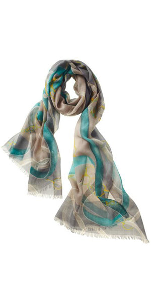 Cavello Featherweight Cashmere Scarf in Teal