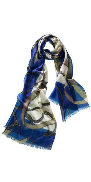 Cavello Featherweight Cashmere Scarf in Twilight