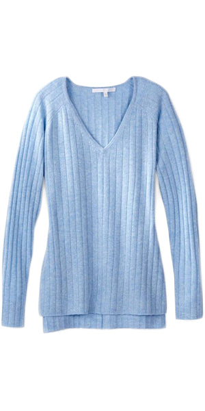 Celeste V-Neck Sweater in Sky