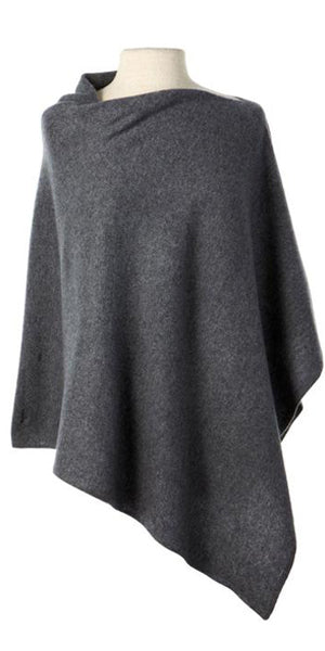 Cashmere Cape in Charcoal