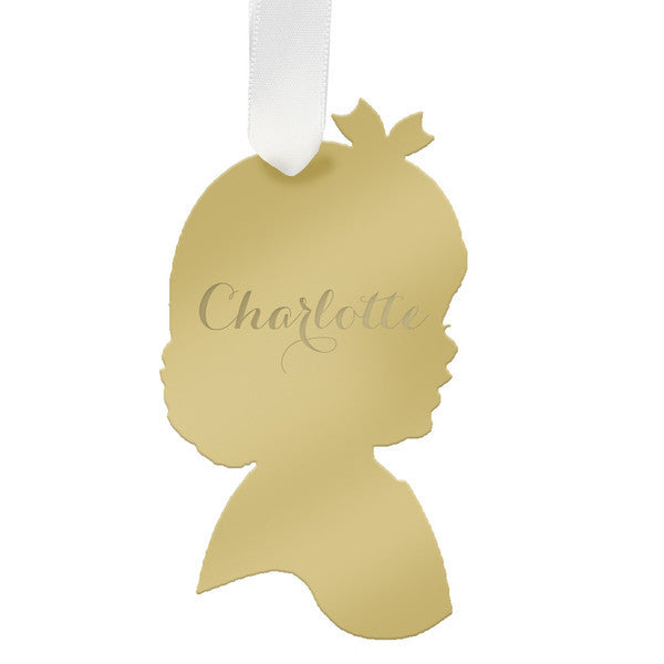 "Personalized Girl Child Ornament- ""Charlotte"""