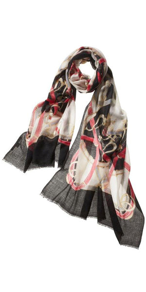 Cinta Featherweight Cashmere Scarf in Ice Petal