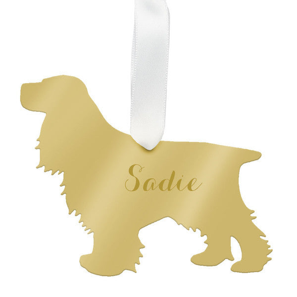 Personalized Cocker Spaniel Ornament