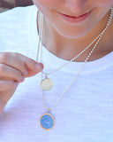 Small Colby Davis Sanddollar Charm in French Blue
