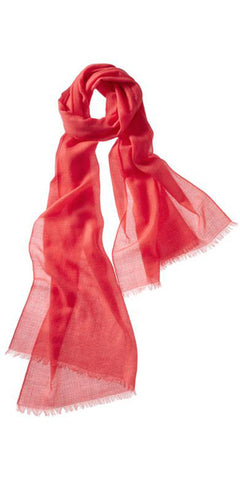 Crepe Featherweight Cashmere Scarf in Scarlet