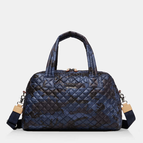 MZ Wallace Travel Jimmy Bag in Dark Blue Camo