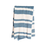Barefoot Dreams Baja Blanket in Dusk/Cream