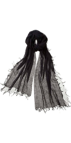 Alta Featherweight Cashmere Scarf in Ebony