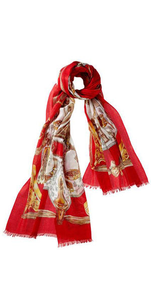 Equino Featherweight Cashmere Scarf in Cardinal