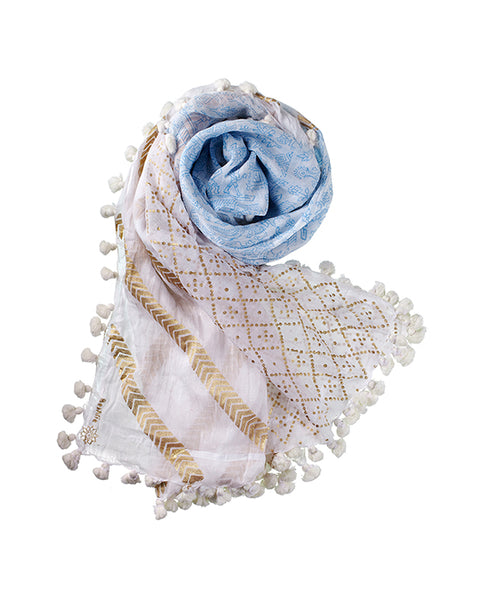 Fairy Tales Dupatta in Blue